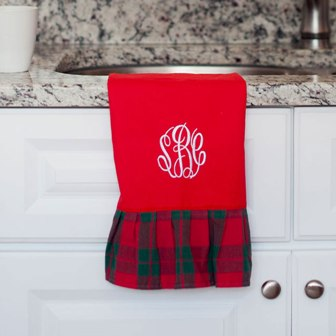 Holiday Plaid Hand Towel (2016 Style)