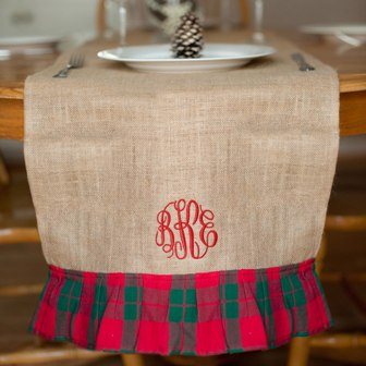 Holiday Plaid Table Runner (2016 Style)