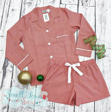 Red Gingham Short Set